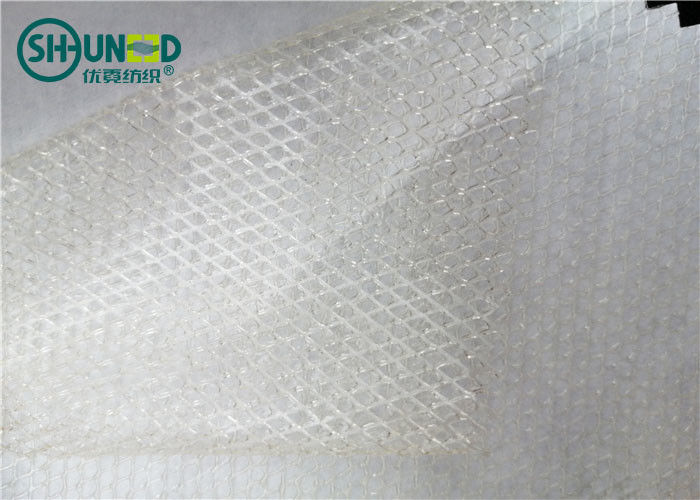 Two Layers Adhesive Fusible Web Net With Non Woven Release Paper For Bonding Clothing